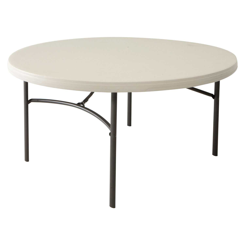 Table pliante poly thyl ne table pehd ronde mobilier for Table ronde 8 personnes dimensions