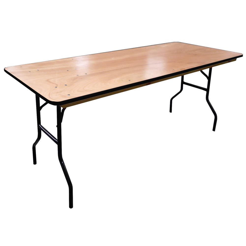 Table pliante rectangulaire traiteur 183cm 8 personnes - Table de bridge pliante ...