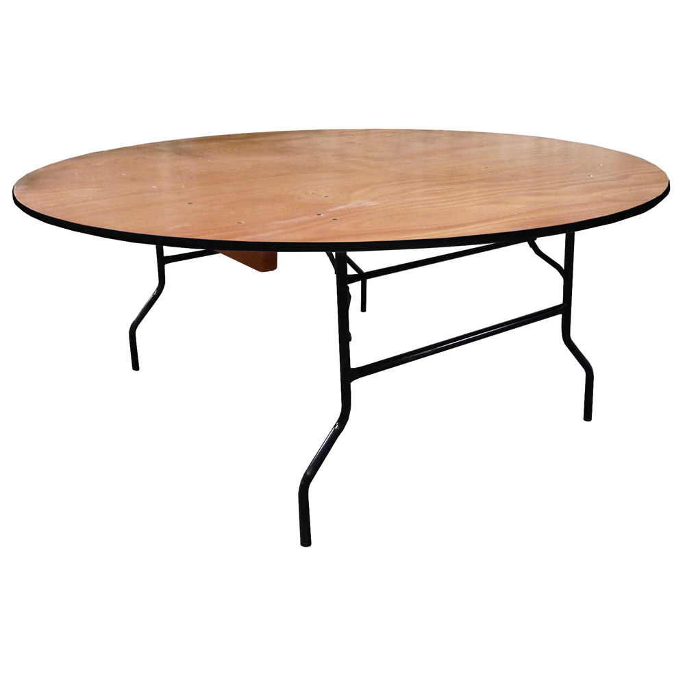 Table pliante ronde traiteur dia 183cm 10 personnes for Table ronde rallonge 8 a 10 personnes