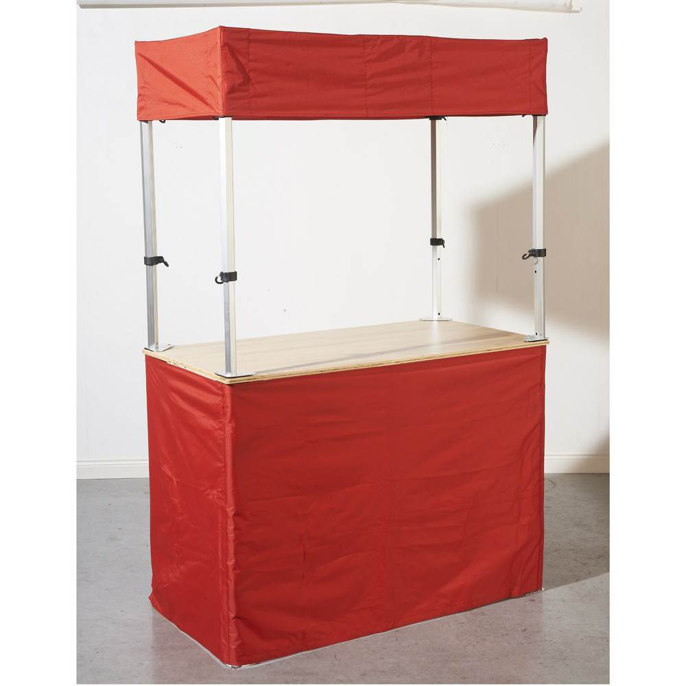 Stand Buvette-Buffet 140 x 70 cm ROUGE