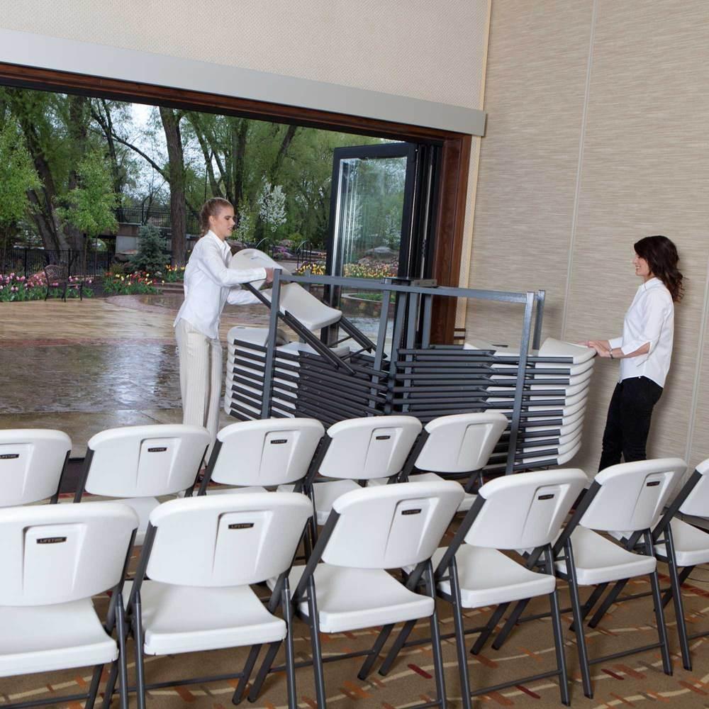 Chariot de chaises 32 chaises pliantes chaise pliante et empilable acce - Chariot chaise pliante ...