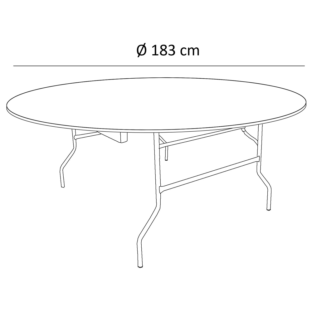 Table pliante ronde Traiteur Dia 183cm / 10 personnes