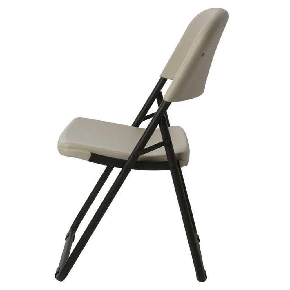 chaise pliante 39 39 loop leg 39 39 blanche chaise pliante et. Black Bedroom Furniture Sets. Home Design Ideas