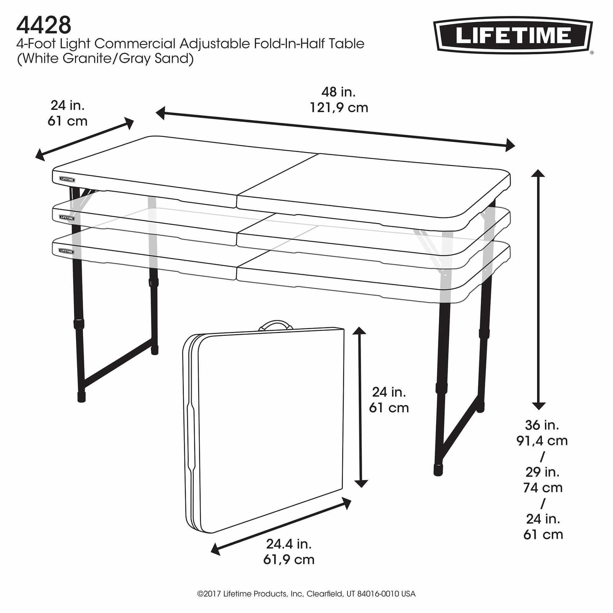 En Table En Rectangulaireblanc122cm Pliable Pliable Table Table 2valiseAjustable En 2valiseAjustable Rectangulaireblanc122cm Pliable WBoxerdC