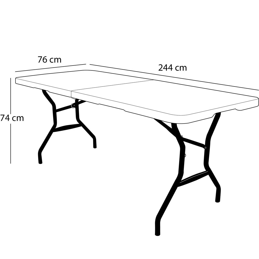 pliable 2valiserectangulaire 244cm 10 Table en T3l1JcFK