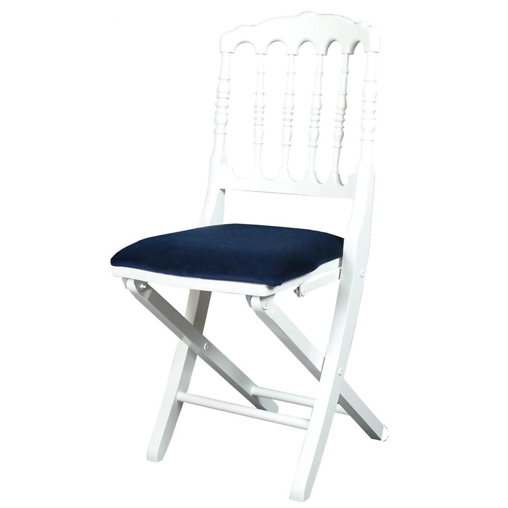 Chaise Pliante Napoleon Bleu Blanc M1