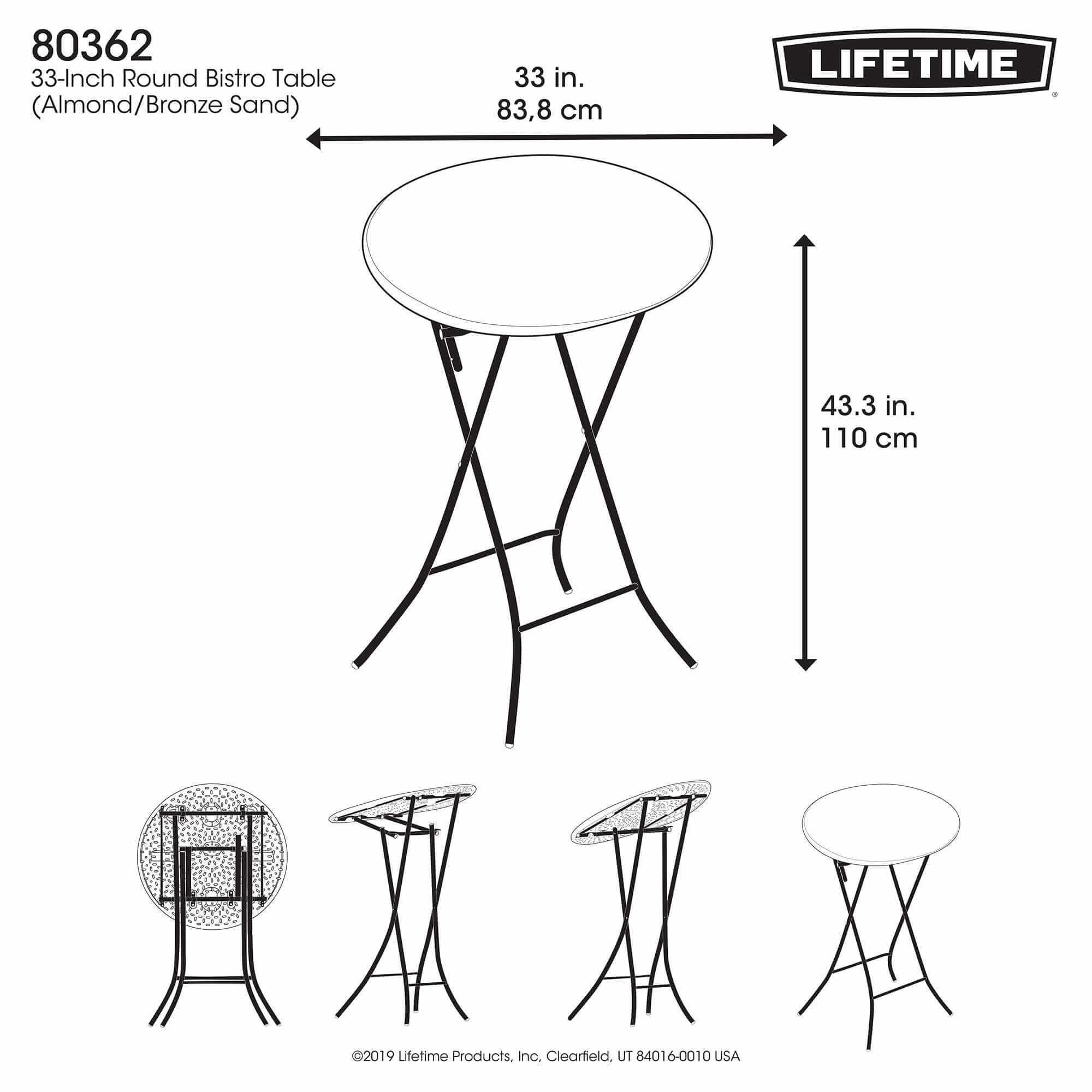 table pliante mange debout dia 84cm 2 4 personnes table pliante table pliante poly 233 thyl 232 ne