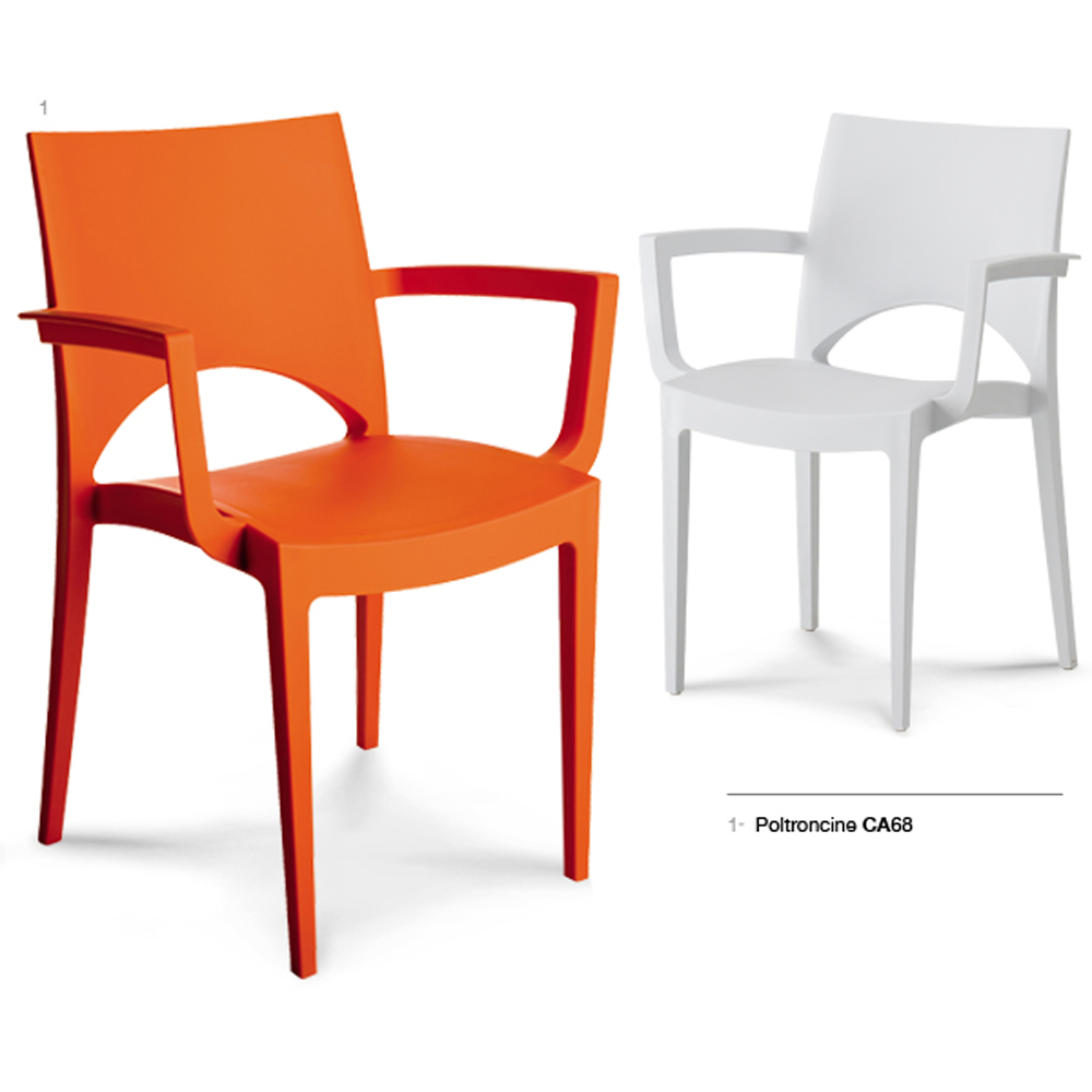 Chaise empilable chantal accoudoir nombreux coloris for Chaises empilables