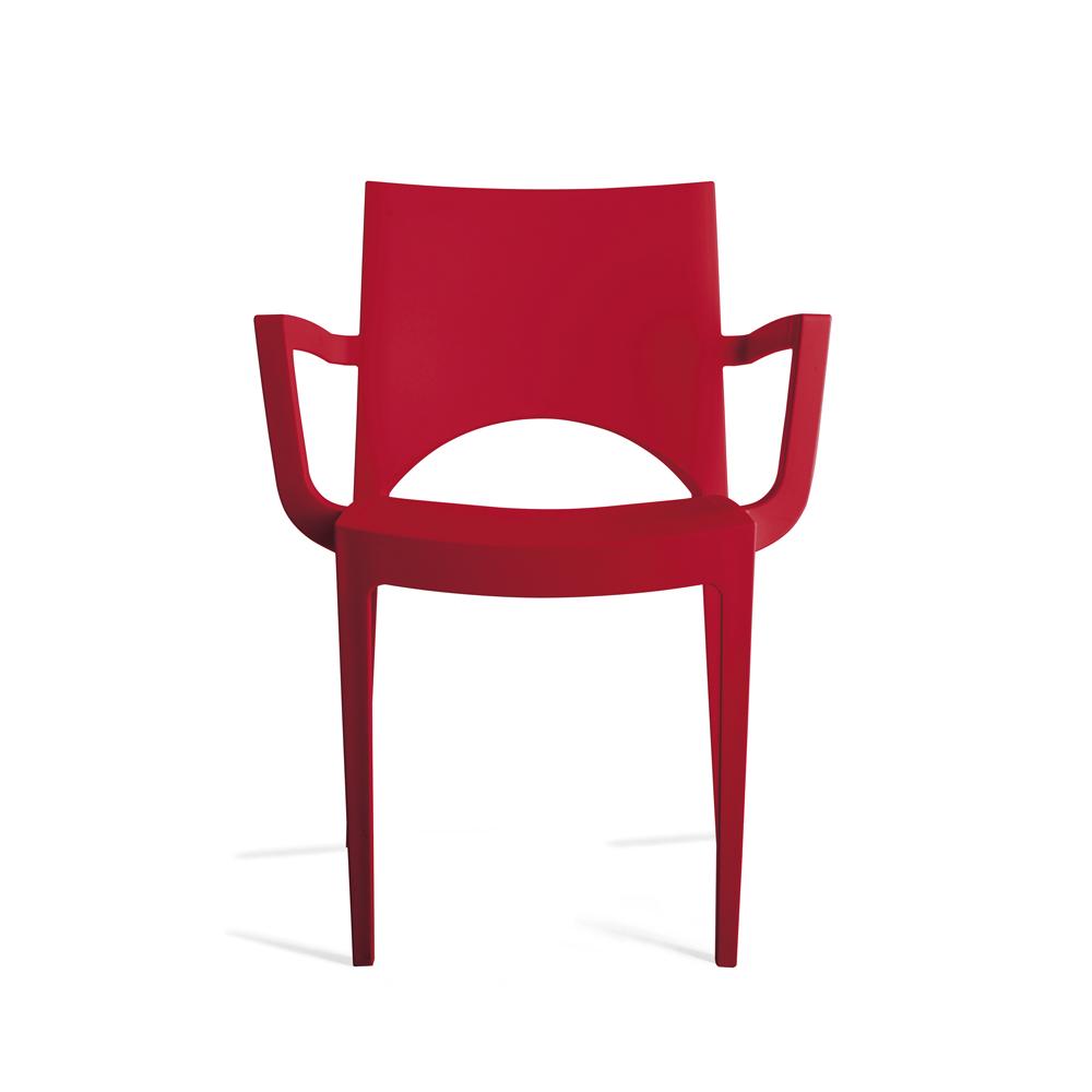 Chaise empilable chantal accoudoir nombreux coloris for Ikea chaises pliantes et empilables