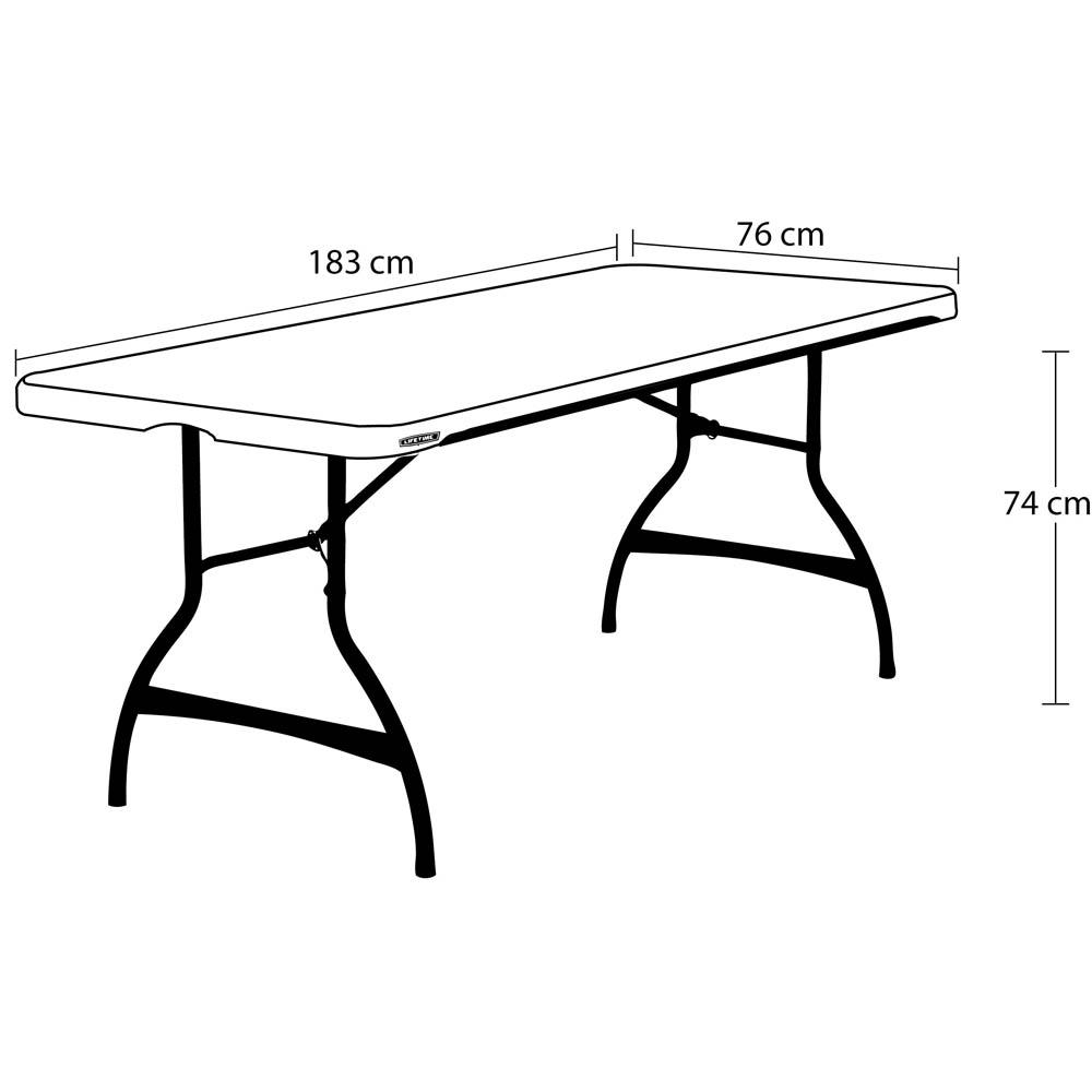 table pliante rectangulaire noire 183cm 8 personnes table pliante table pliante poly thyl ne. Black Bedroom Furniture Sets. Home Design Ideas