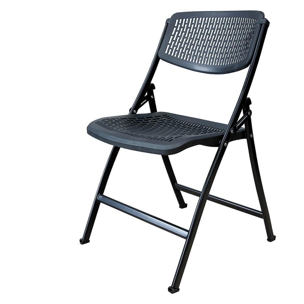 chaise pliante net noir m2 chaise pliante et empilable chaise pliante. Black Bedroom Furniture Sets. Home Design Ideas