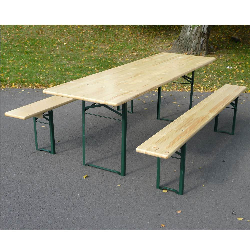 Banc brasserie en bois 4 5 personnes table non comprise for Table chaise bois