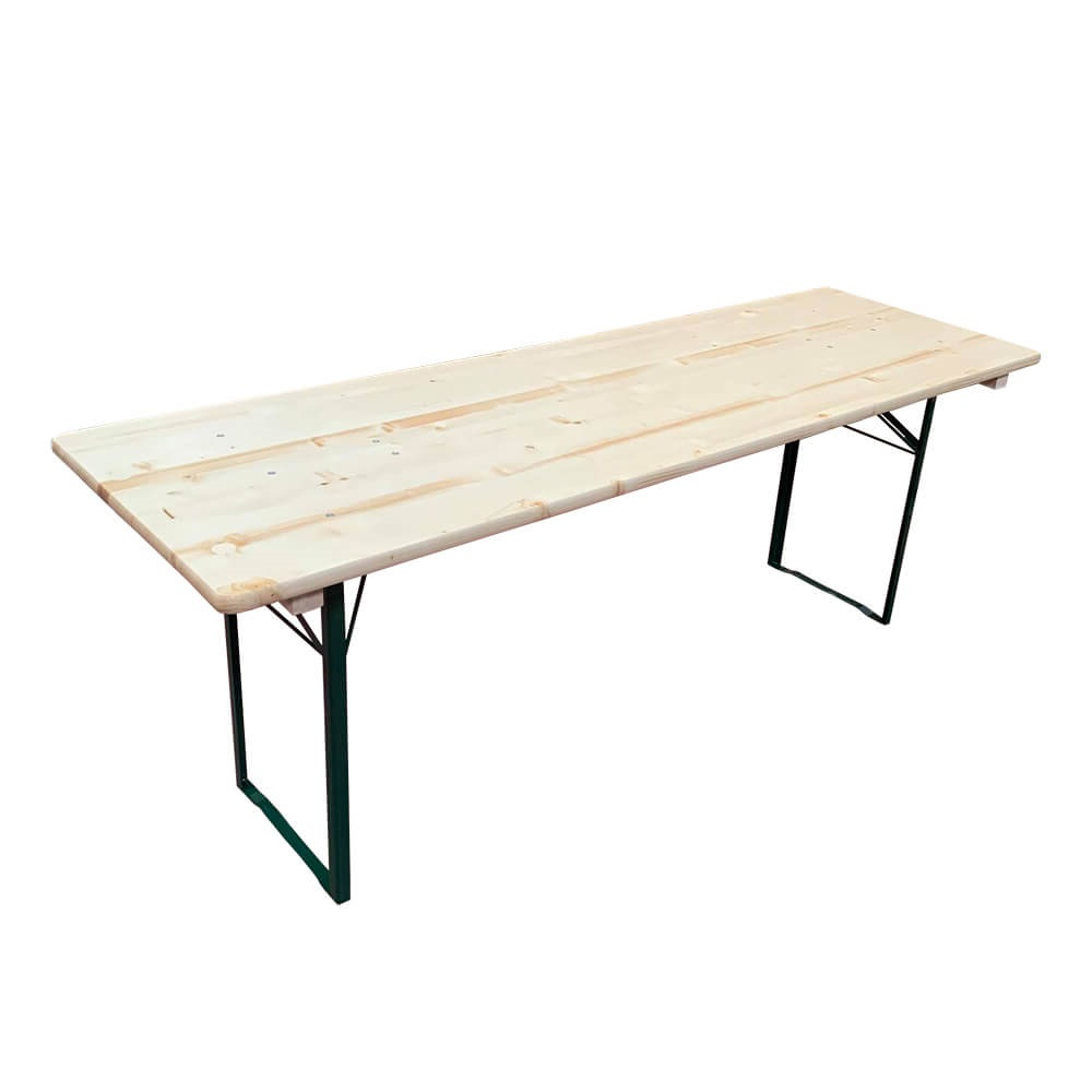 Table brasserie 220x80cm bancs non compris pi tement - Table brasserie pliante occasion ...