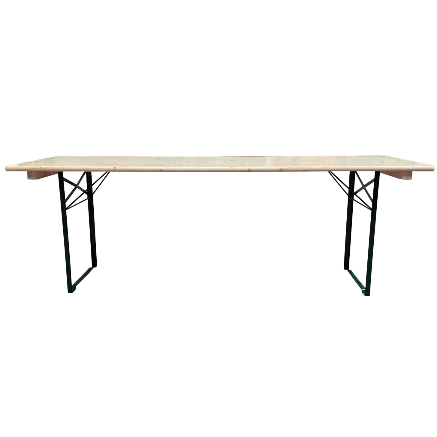 table brasserie 220x80cm bancs non compris pi tement corni re acier table pliante table. Black Bedroom Furniture Sets. Home Design Ideas