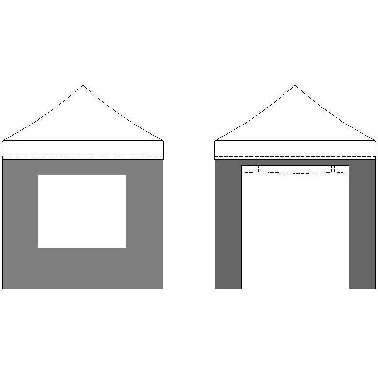 Kit 4 parois murs lat raux pour tente 3x3m 3 cot s - Kit pour porte pliante ...