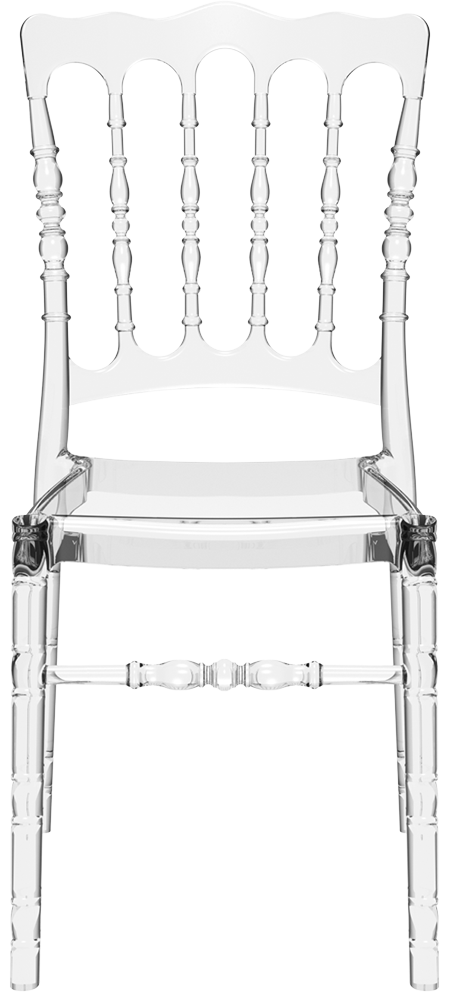 Chaise empilable napoleon opera transparent chaise pliante et empilable - Chaises plastique transparent ...