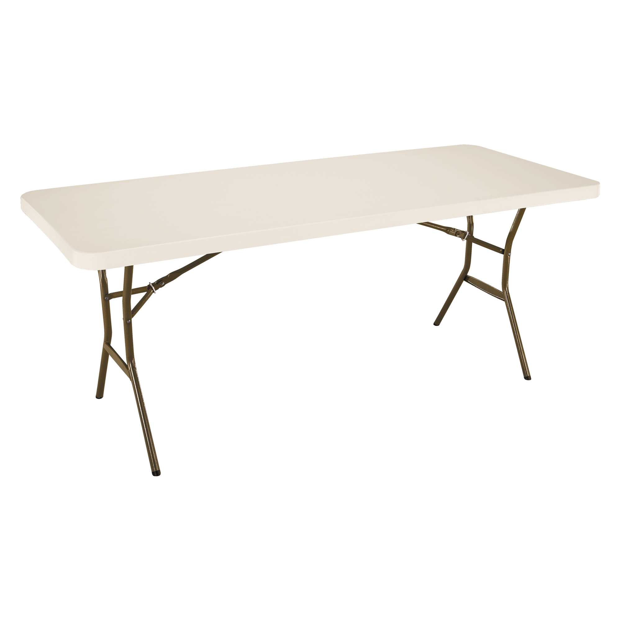Table pliante rectangulaire 183cm (beige) / 8 personnes