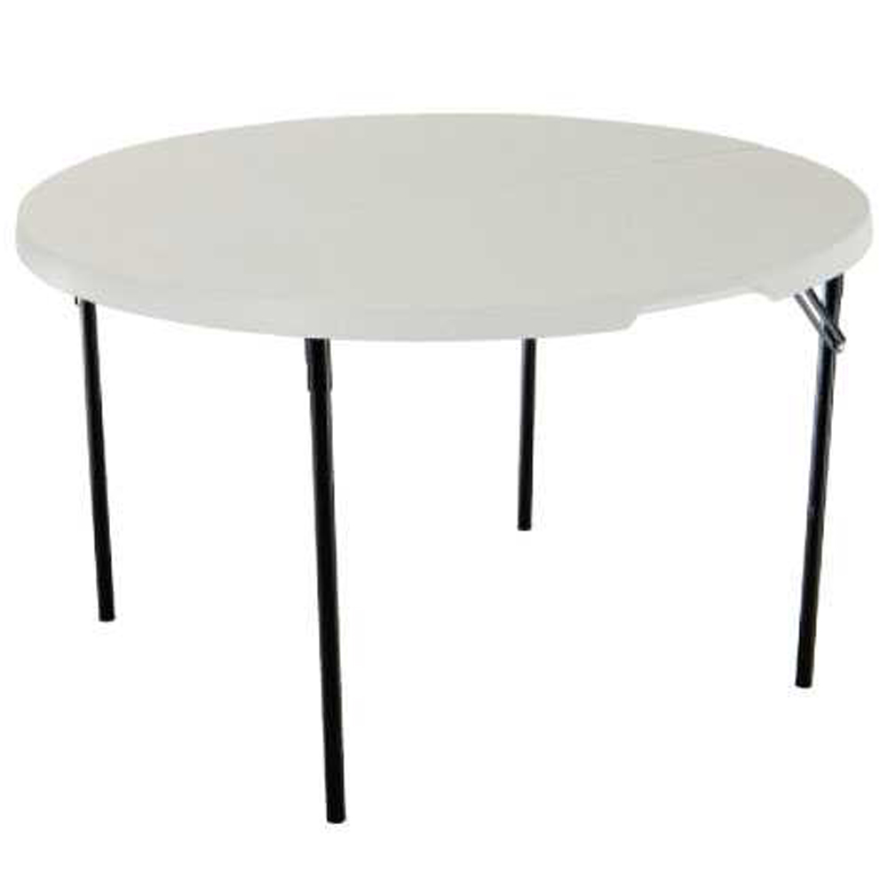 Table pliante poly thyl ne table pehd ronde mobilier for Table pliante exterieur professionnel