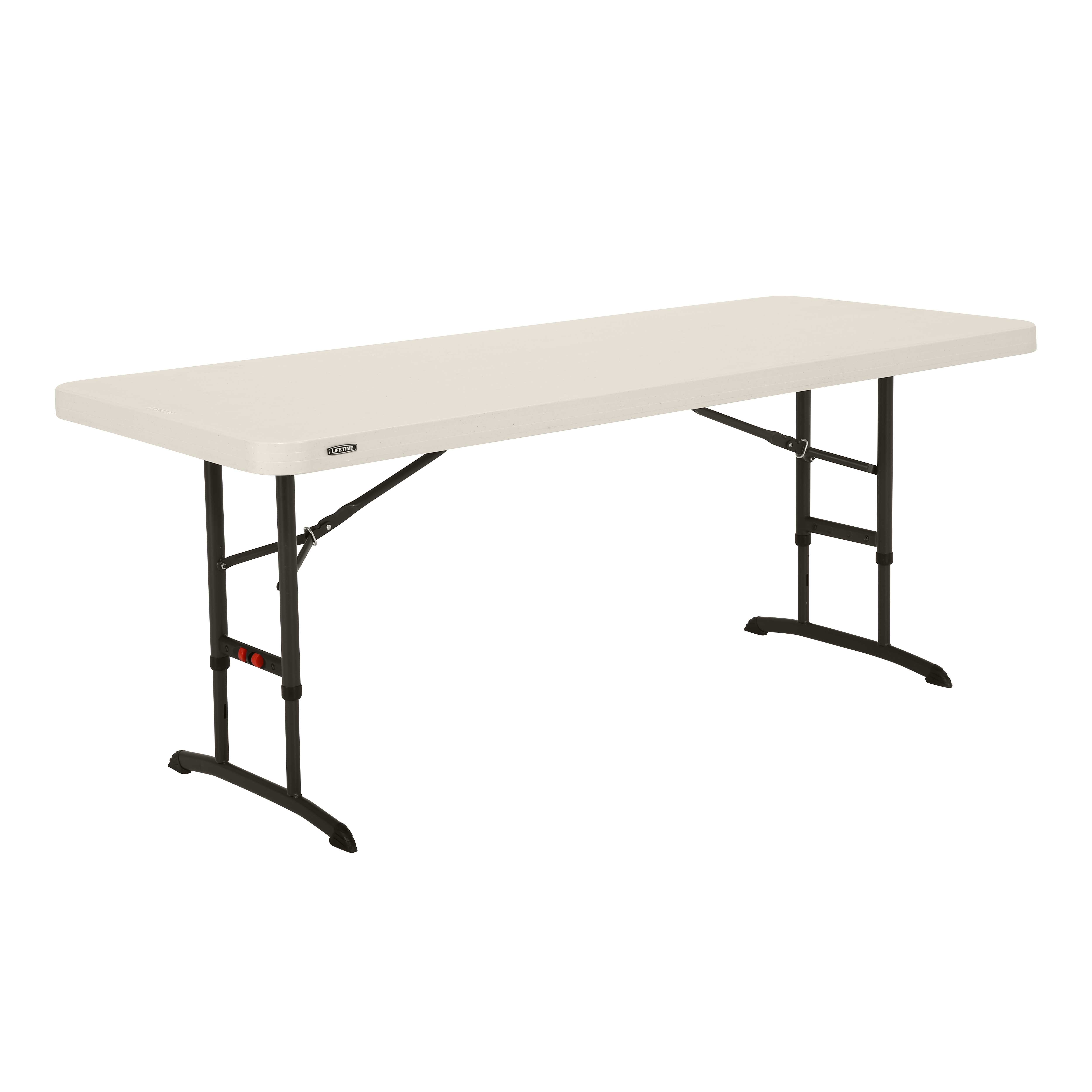 Table pliante ajustable rectangulaire 183cm / 8 personnes