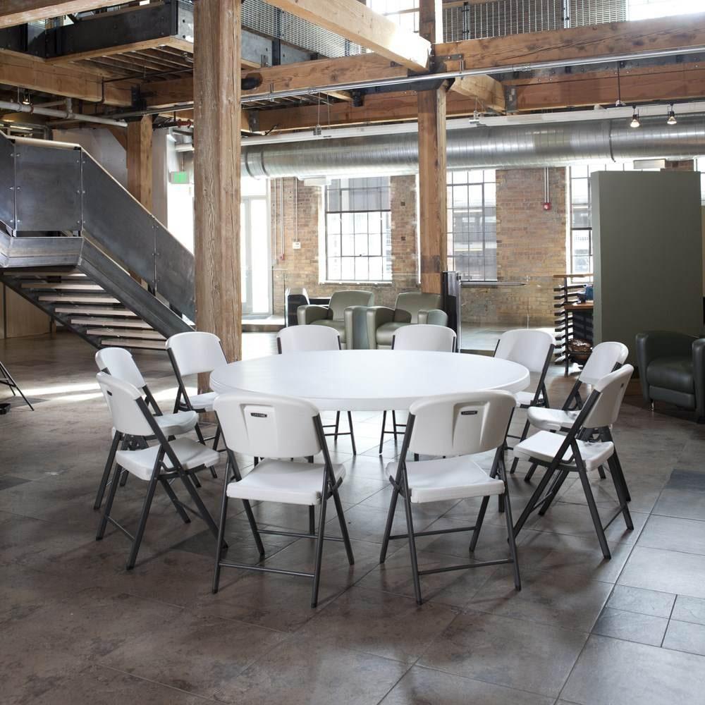 table pliante ronde dia 183cm 10 12 personnes table pliante table pliante poly thyl ne. Black Bedroom Furniture Sets. Home Design Ideas