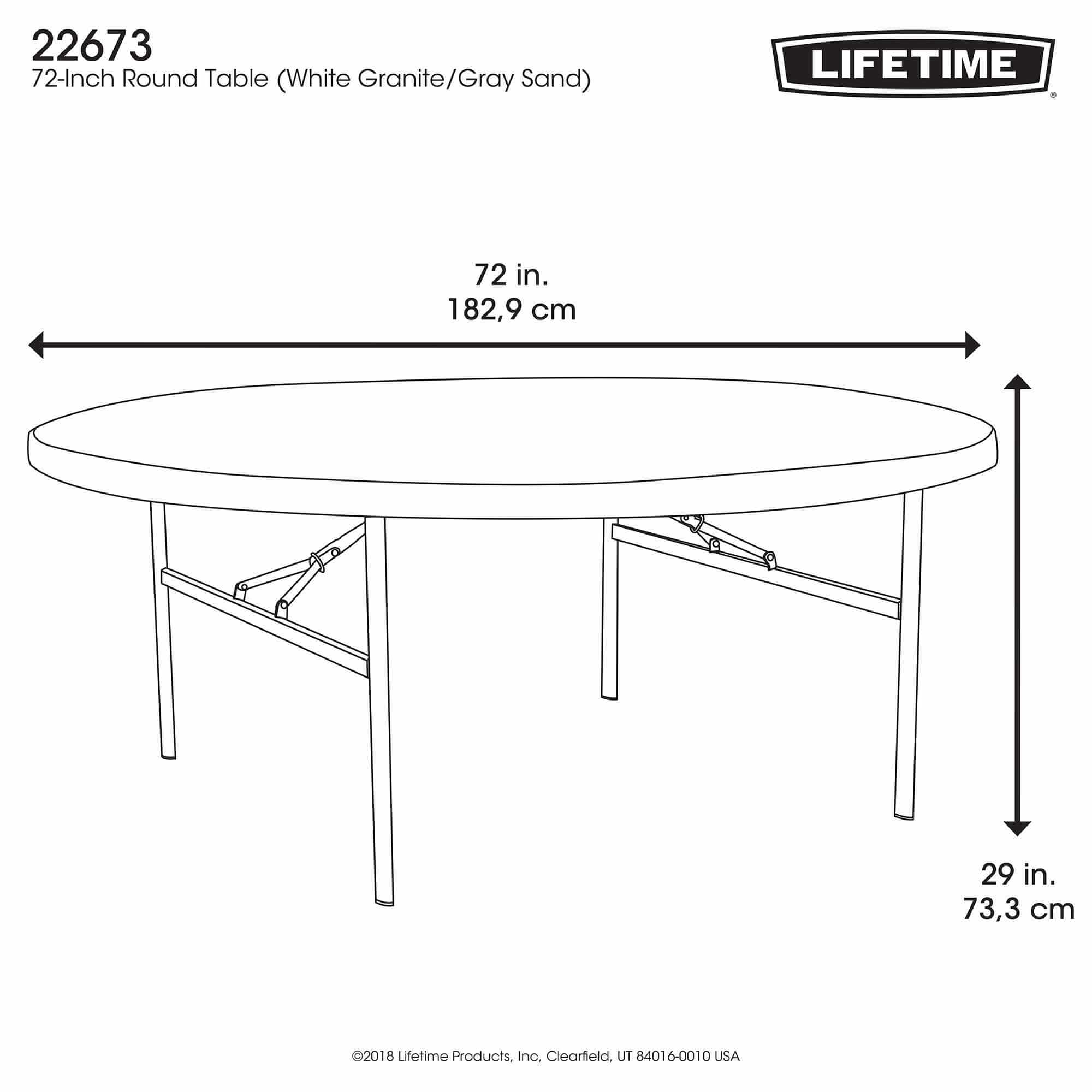 table pliante ronde dia 183cm 10 12 personnes table. Black Bedroom Furniture Sets. Home Design Ideas
