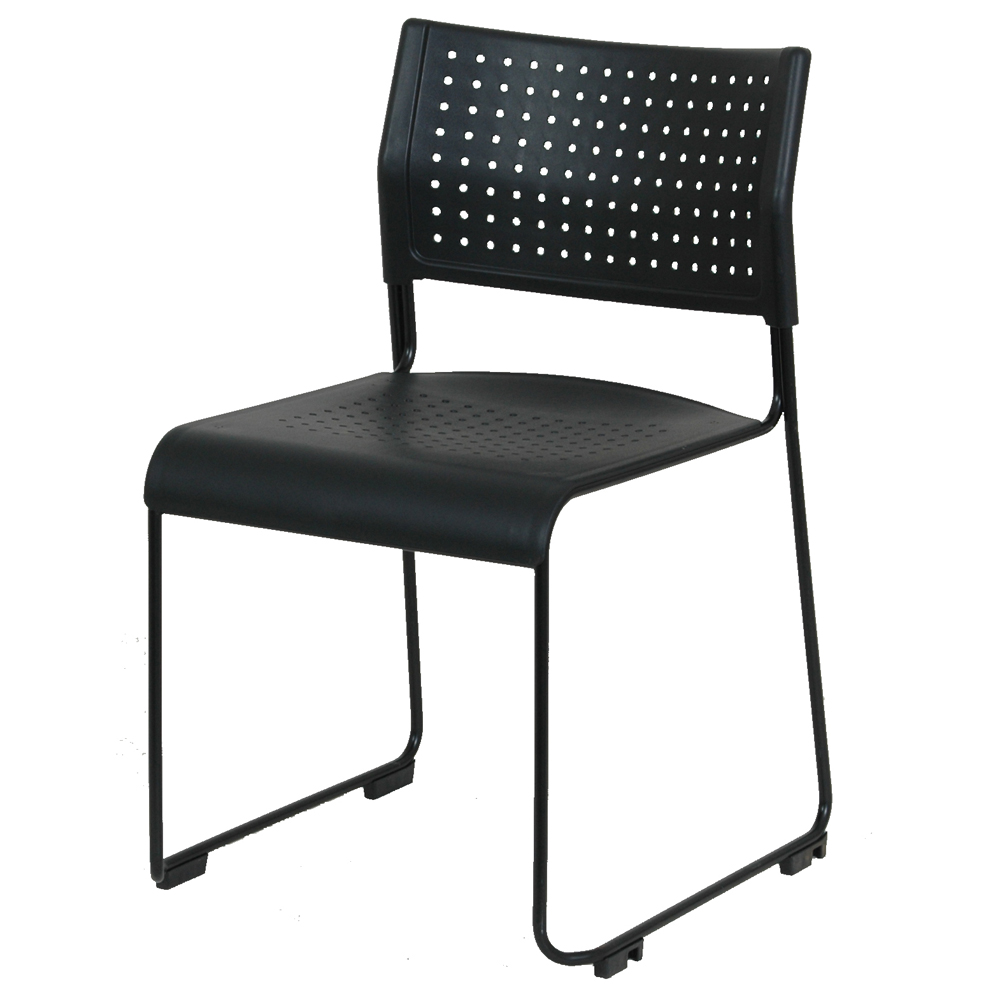 Chaise empilable STACK'IN noir & noir M2
