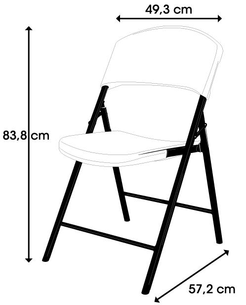 chaise pliante 39 lightweight 39 blanche chaise pliante et empilable chaise pliante. Black Bedroom Furniture Sets. Home Design Ideas