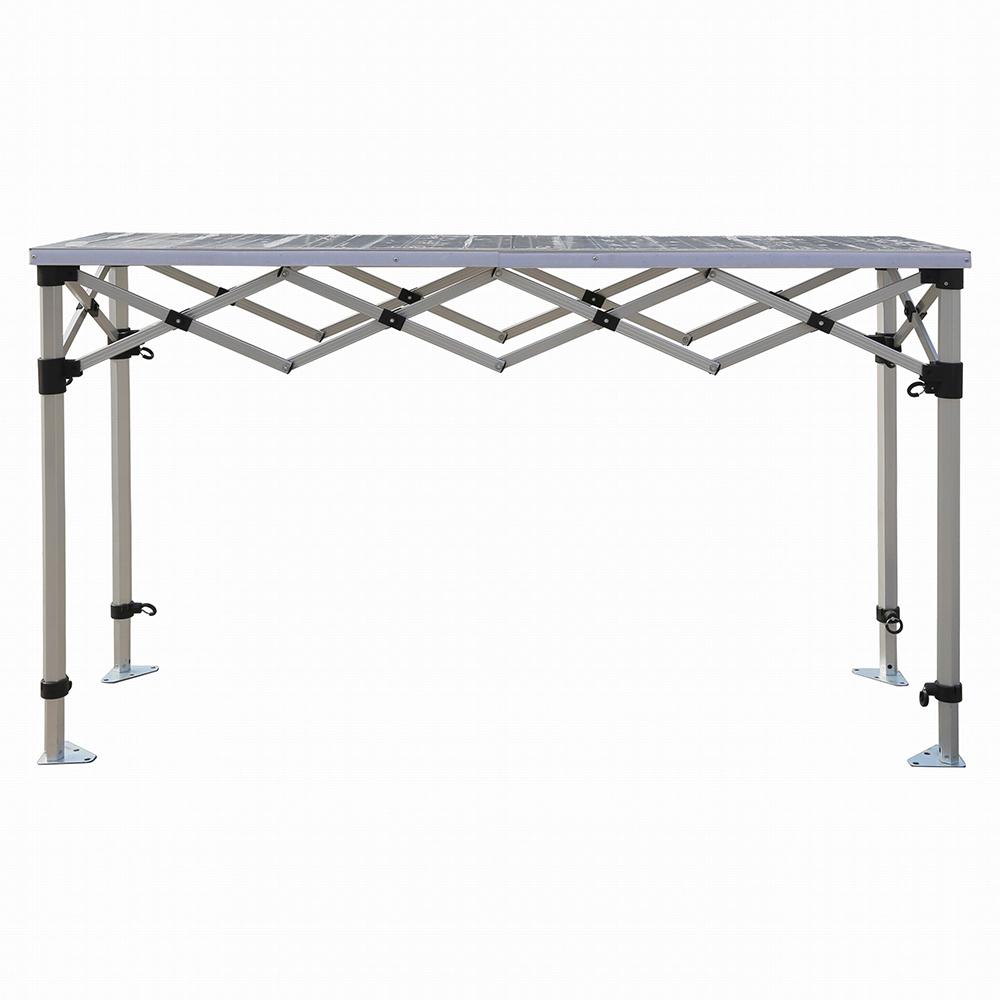 bar comptoir pliant hauteur r glable plateau et pi tement en aluminium stand et. Black Bedroom Furniture Sets. Home Design Ideas