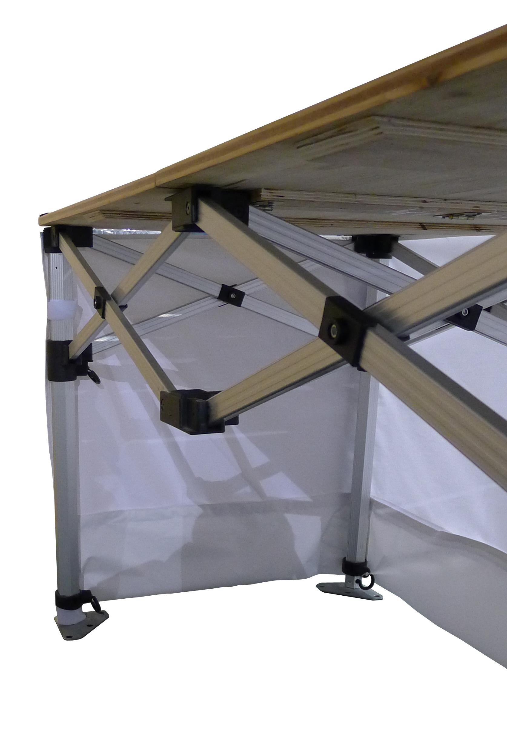 stand buvette buffet 140 x 70 cm noir stand et comptoir pliant stand buvette. Black Bedroom Furniture Sets. Home Design Ideas