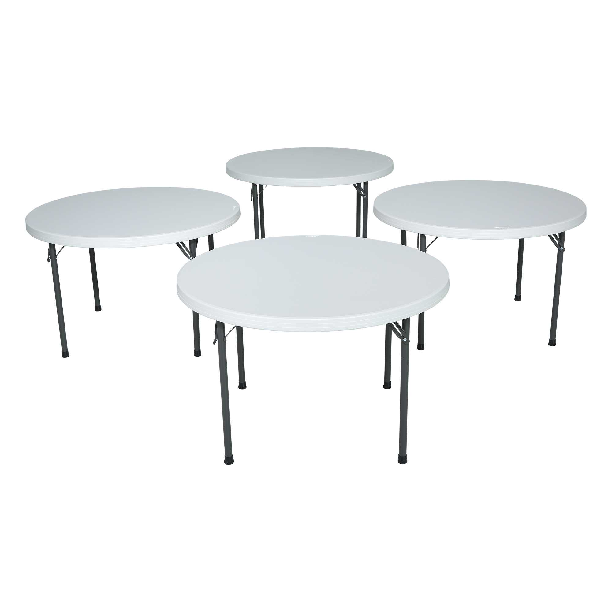 Table pliante ronde dia 122cm 4 6 personnes table for Table midland 4 personnes