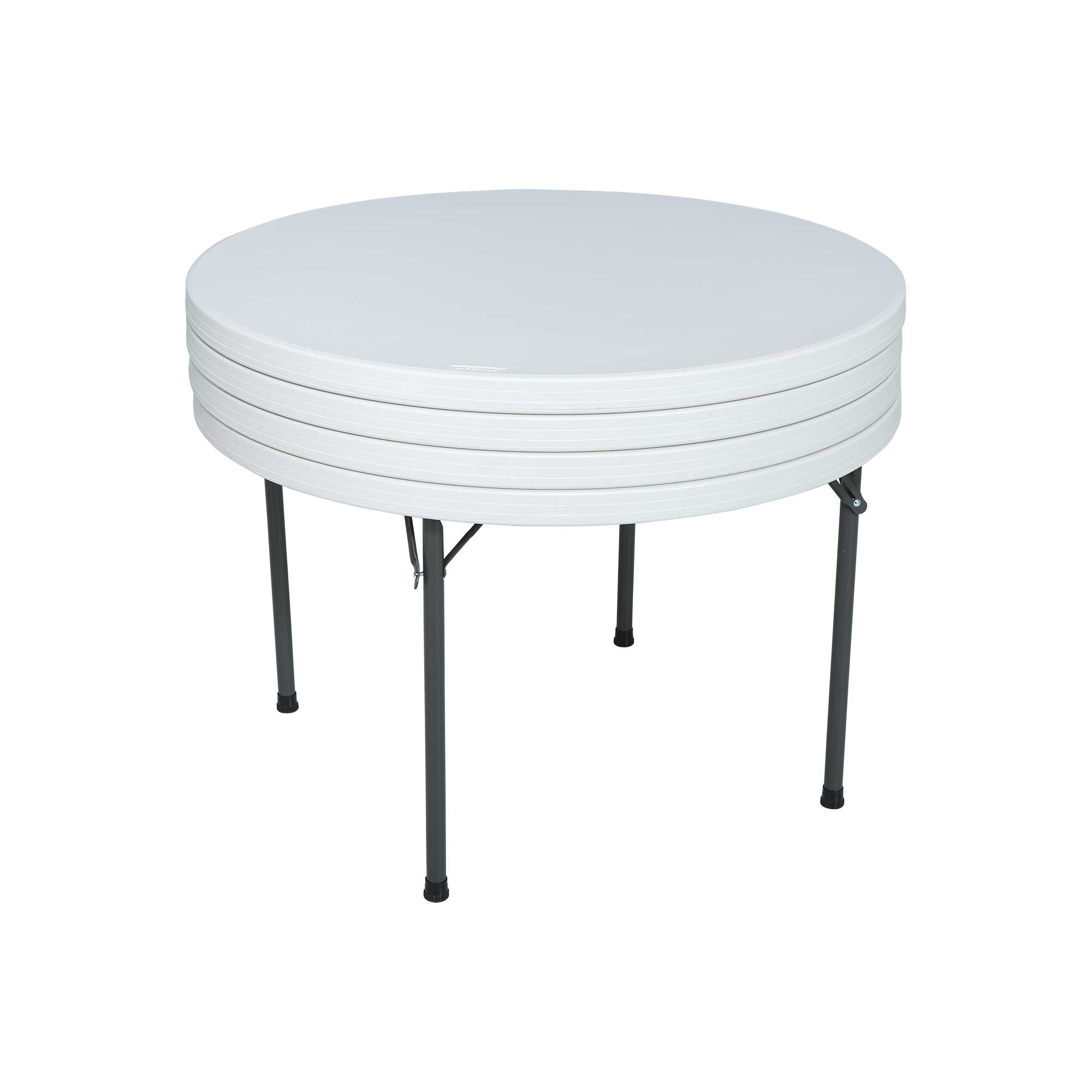 Table pliante ronde dia 122cm 4 6 personnes table for Table ronde 6 personnes