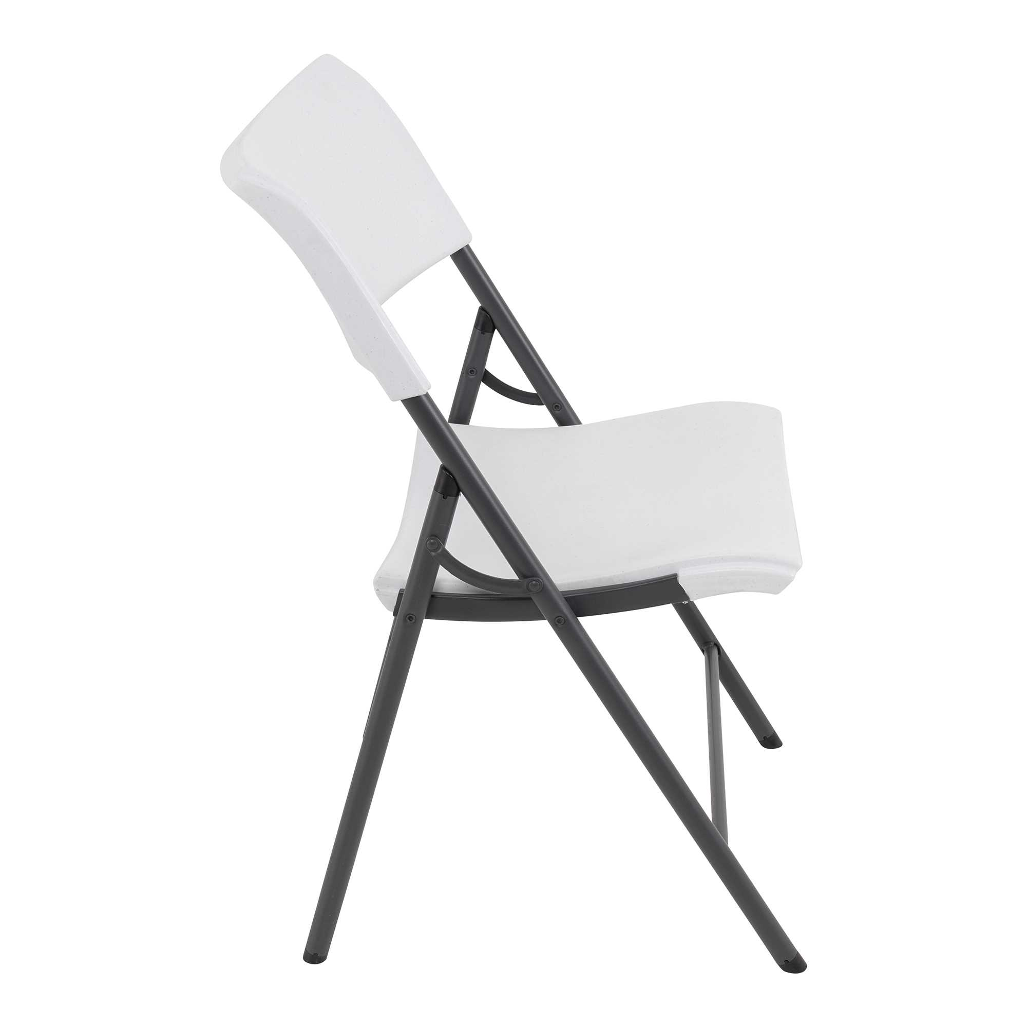Chaise pliante contemporaine BLANC
