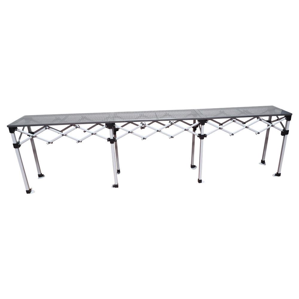 bar comptoir pliant hauteur r glable plateau et pi tement en acier stand et comptoir. Black Bedroom Furniture Sets. Home Design Ideas