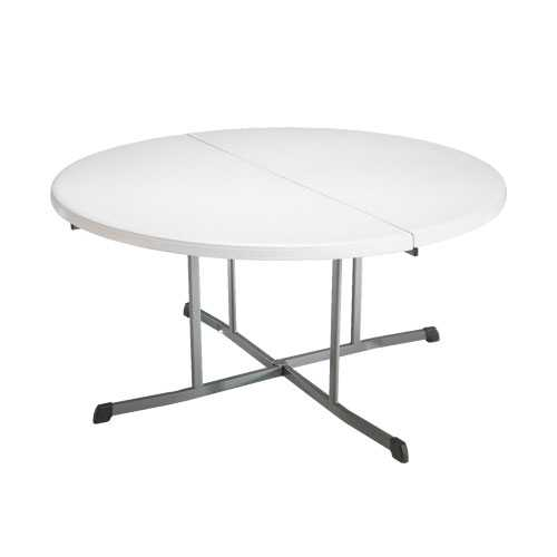 Table pliable en 2 ronde dia 152cm / 8 personnes