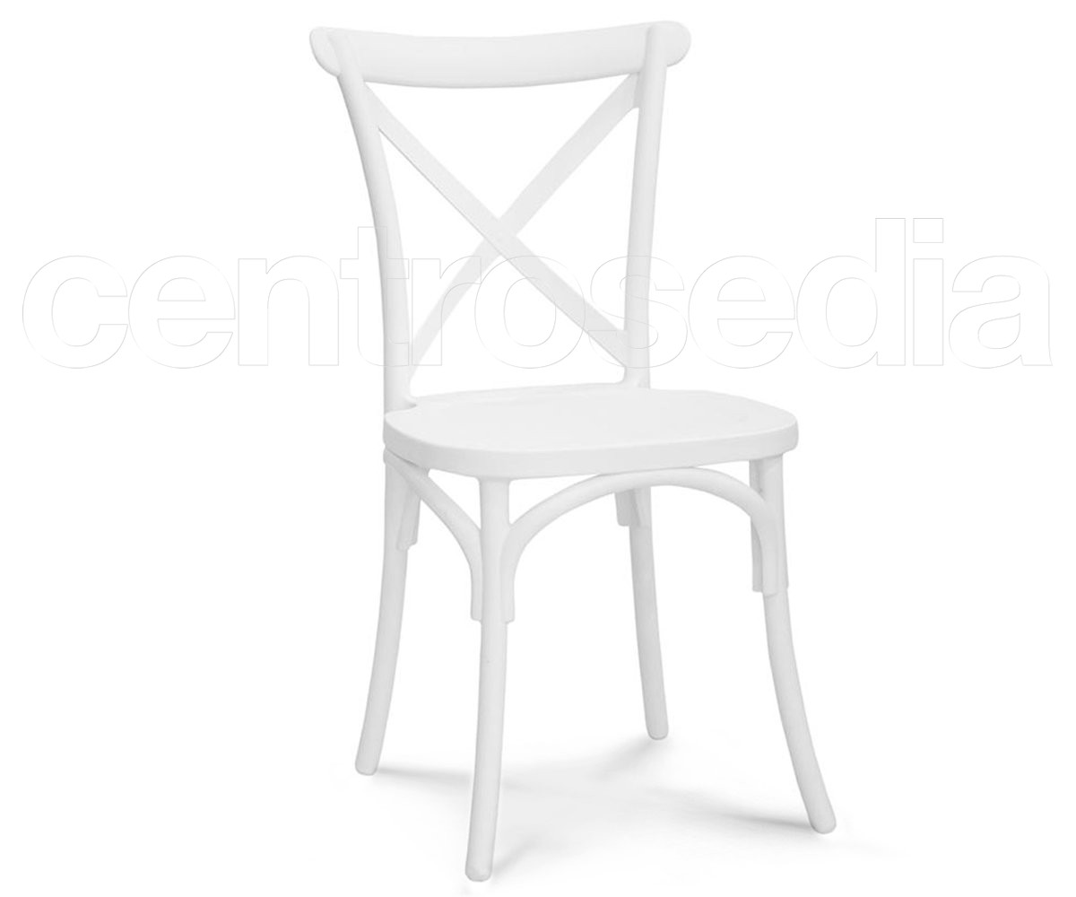 Chaise empilable CROSS / Blanc