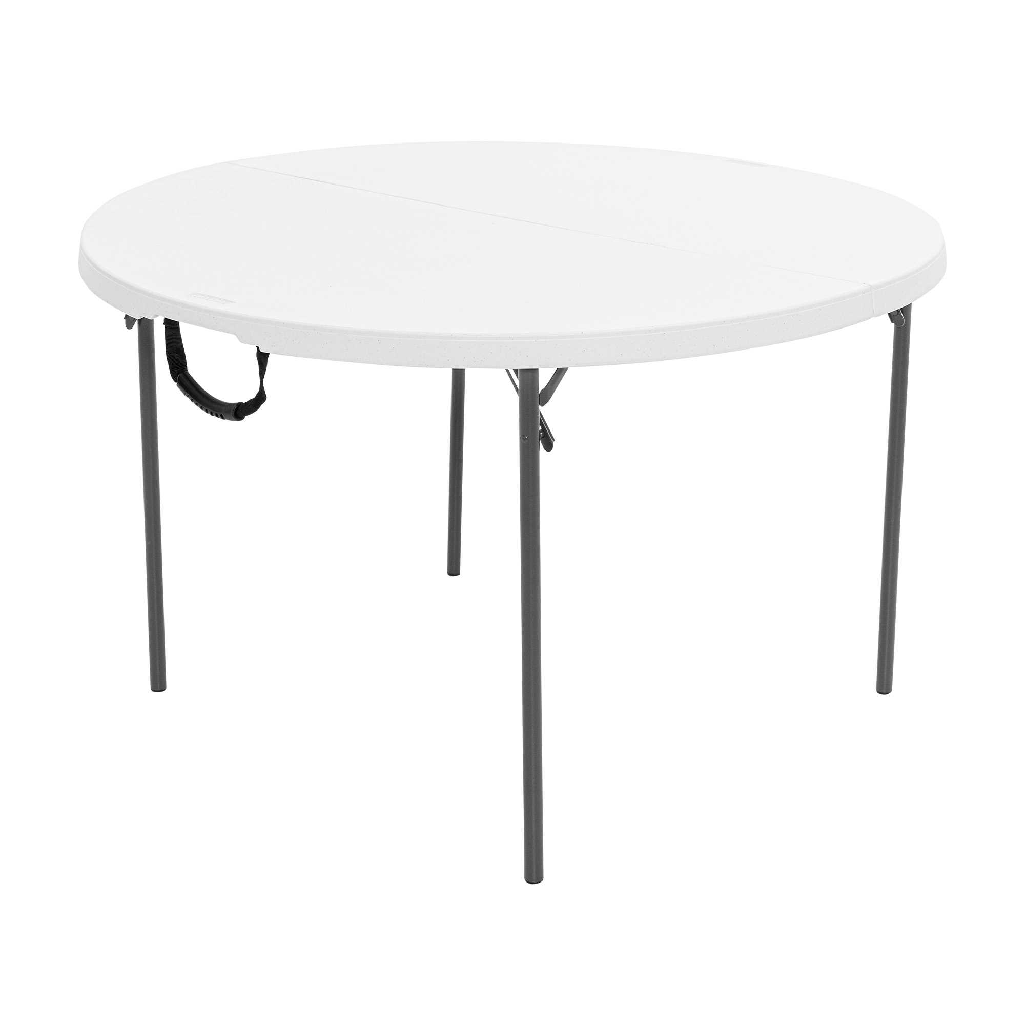 Table pliable en 2 ronde dia 122cm / 4 personnes