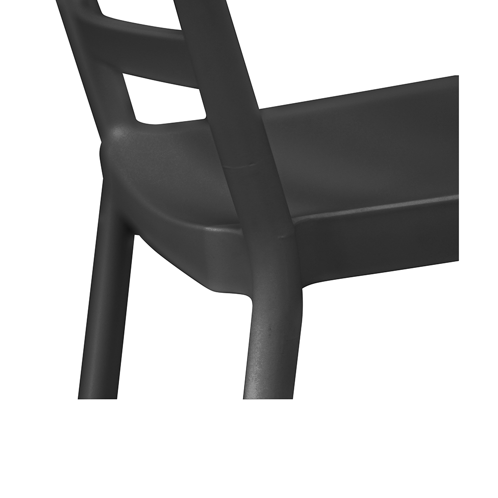 Chaise empilable BERLIN / Gris anthracite