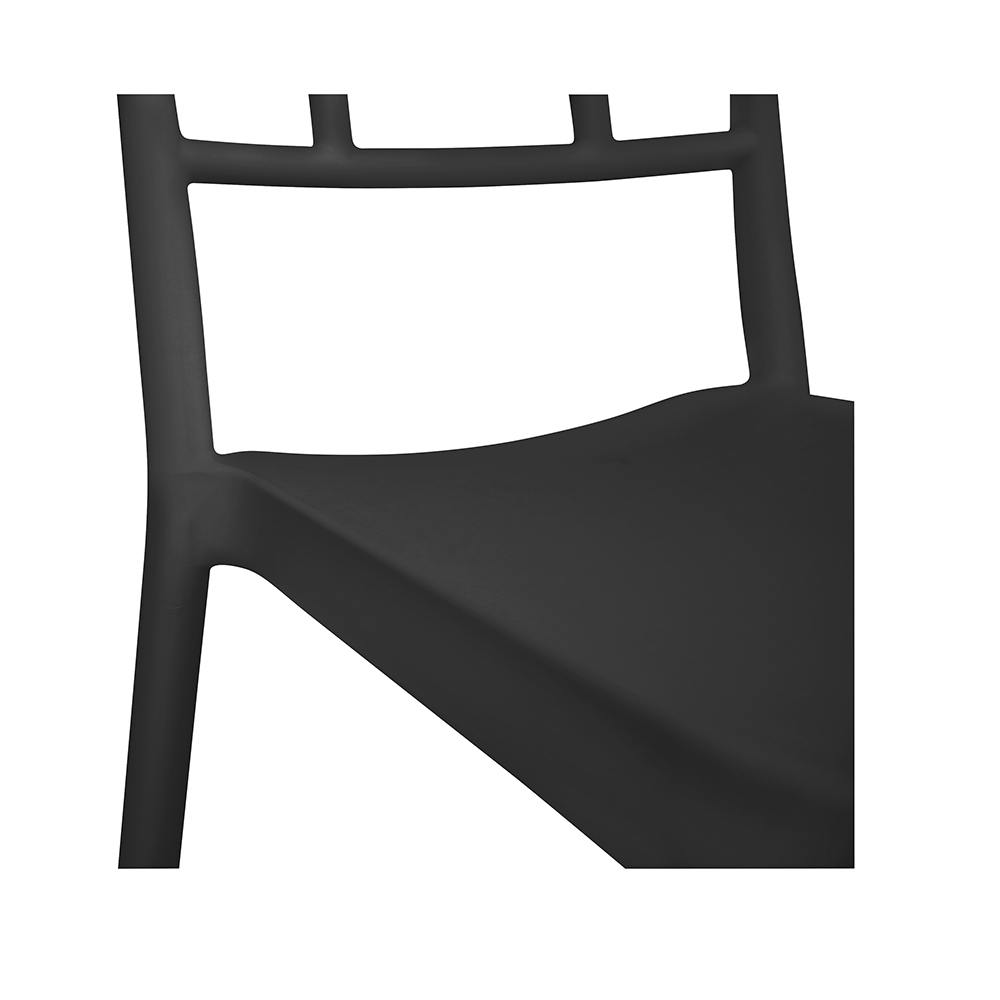 Chaise empilable LONDON / Gris anthracite