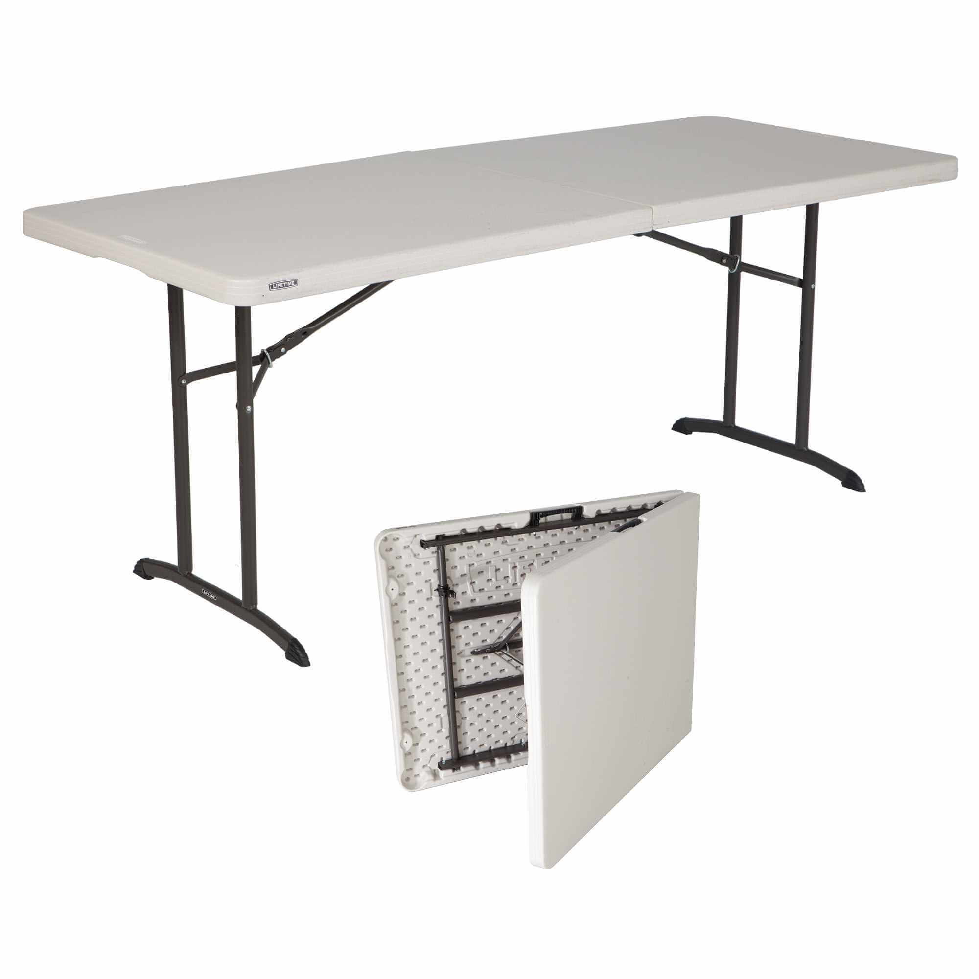 Table pliable en 2 (valise) rectangulaire 183cm / 8 personnes