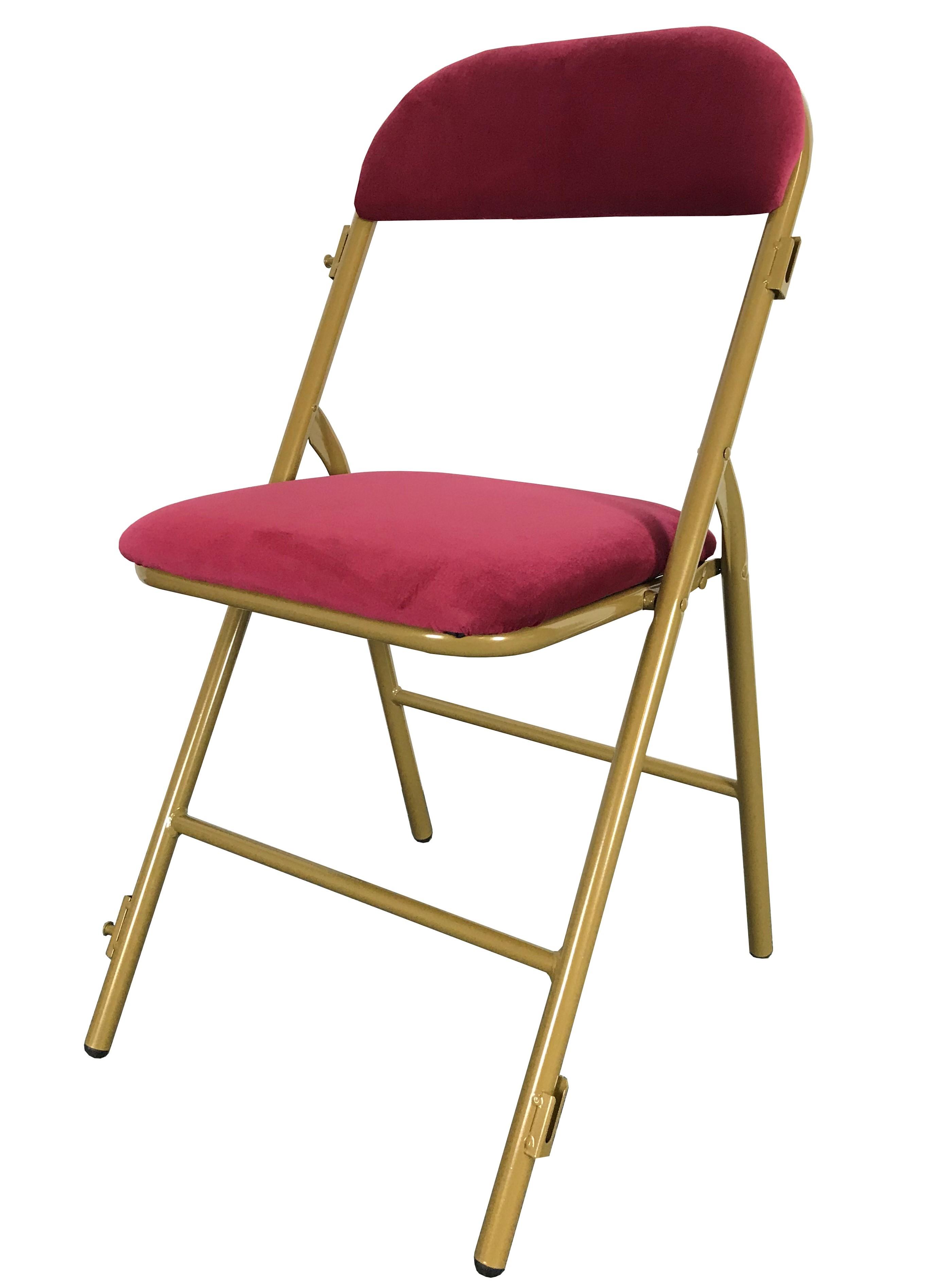 chaise pliante chaise pliante acier et tissu mobilier pour professionnels traiteurs chr et. Black Bedroom Furniture Sets. Home Design Ideas