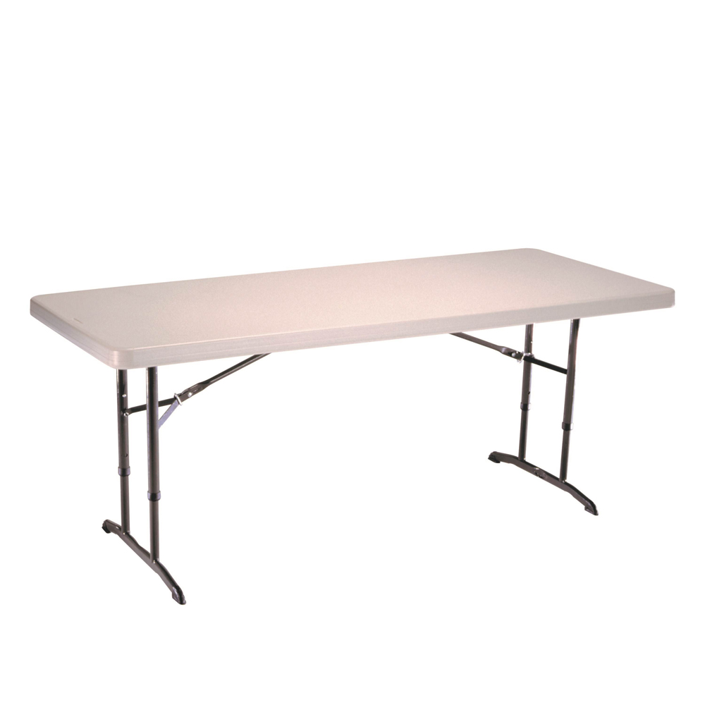 Table pliante rectangulaire ajustable 183cm 8 personnes table pliante t - Table rectangulaire pliante ...